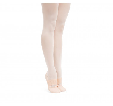 Soft ballet shoes with full sole and wide elastic