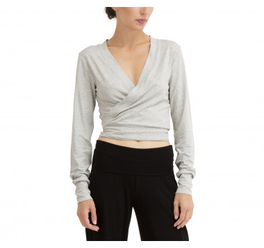 Wrap-over top to tie in viscose