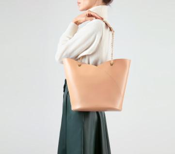 New Révérence bag - Biscuit nude