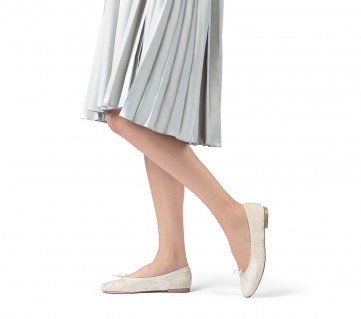 High Cendrillon ballerinas - White