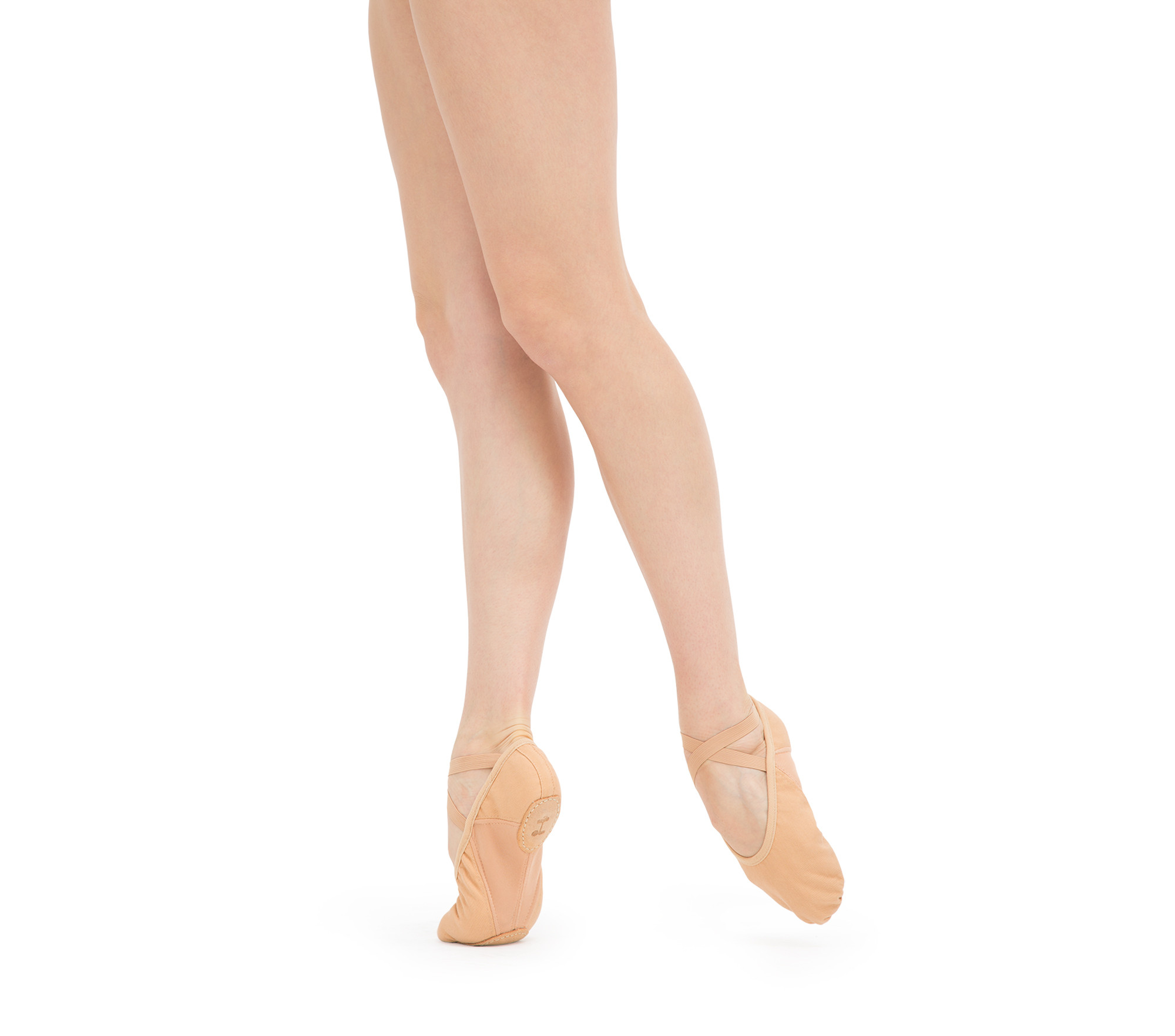 Professional soft ballet shoes with split sole (medium width