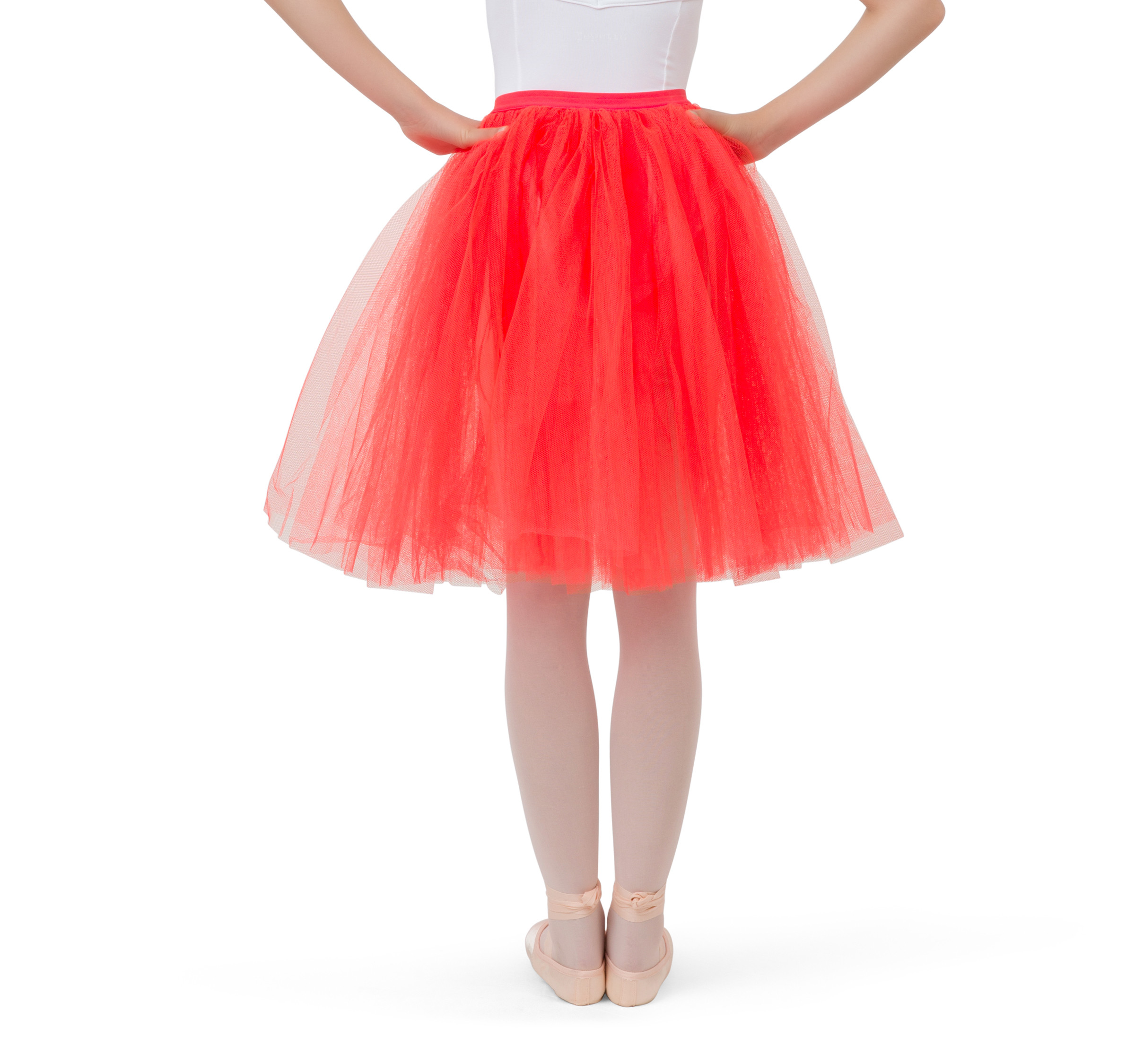 Girl long tulle skirt