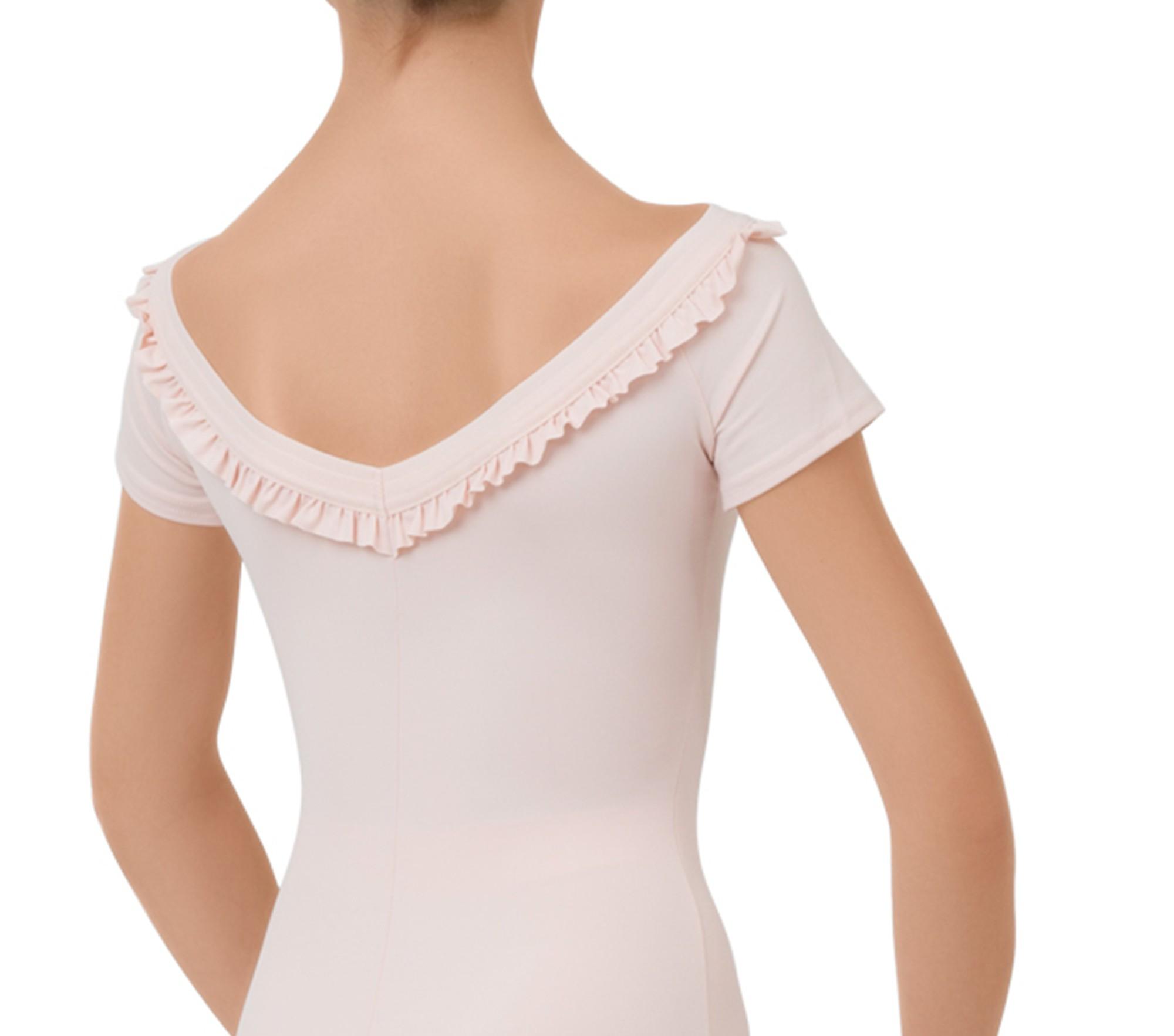 Girl short sleeved leotard