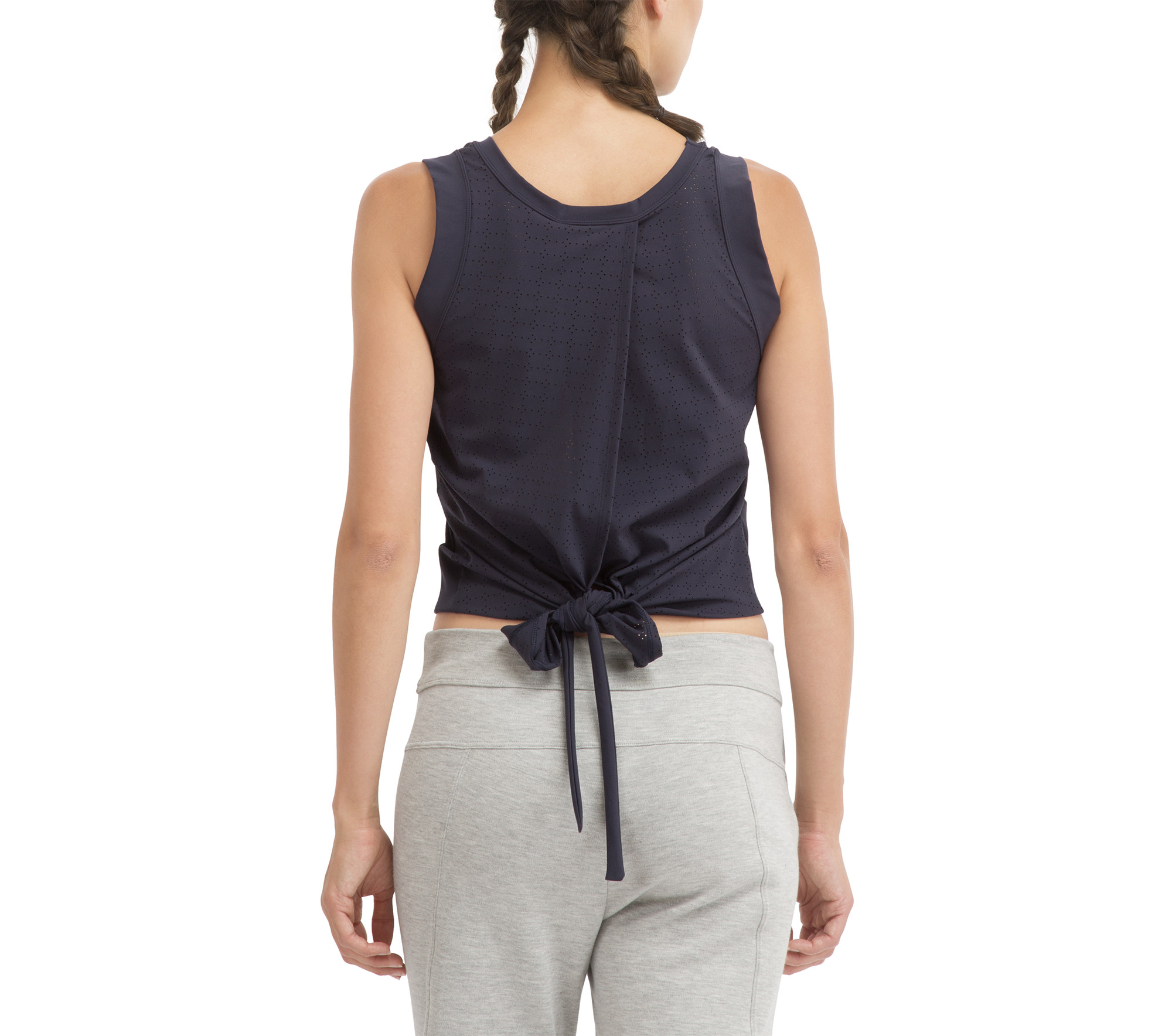 High stretch top to tie