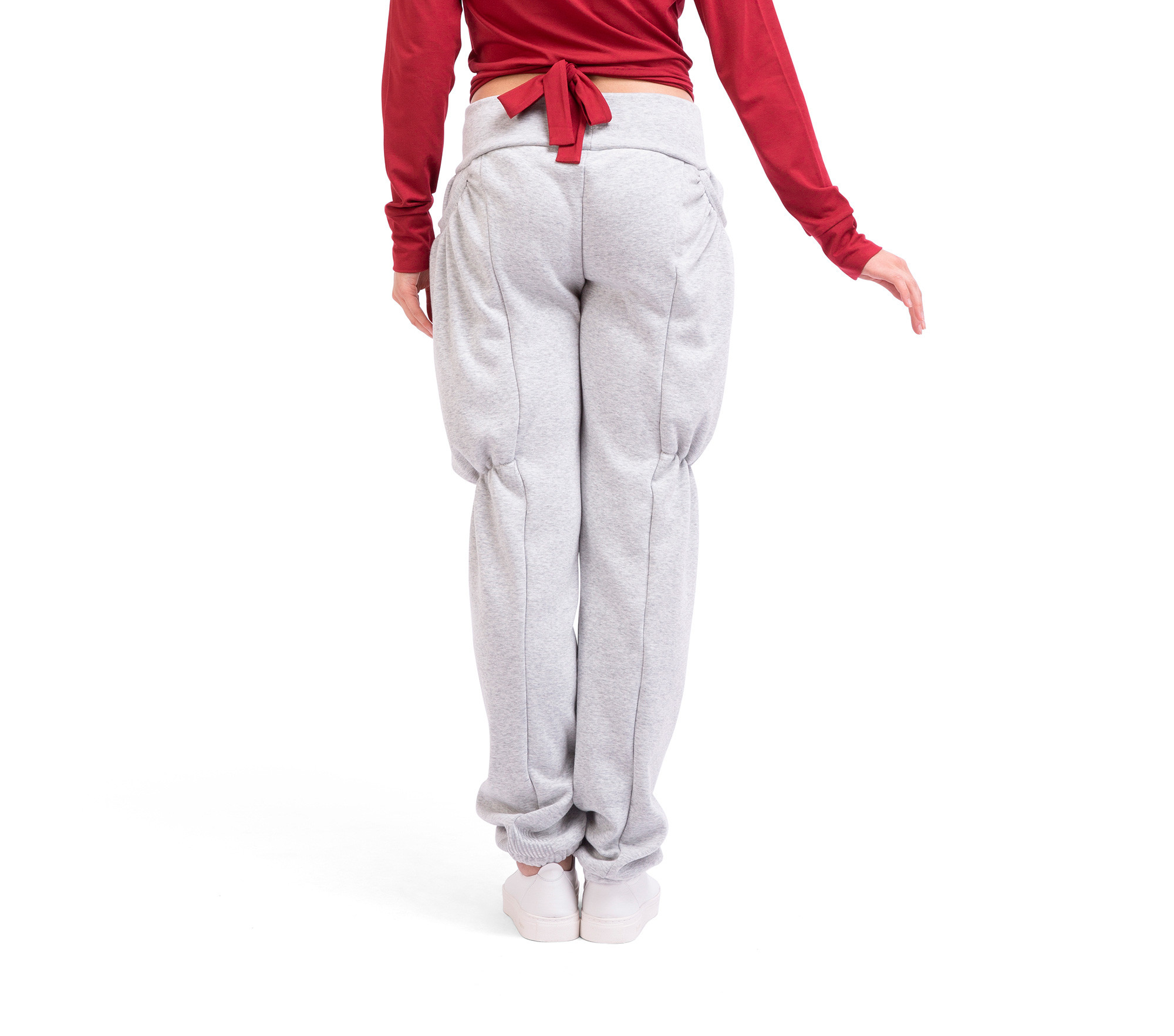 Brushed cotton warm-up trousers with soft lining