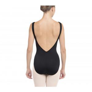 Tanztrikotmit großer Ausschnitt auf der Rückseite