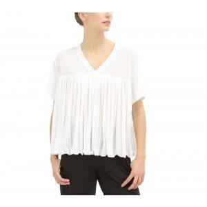 Plissee-T-Shirt