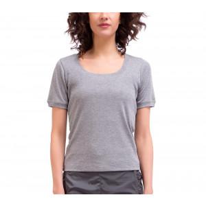 T-Shirt aus Rippstrick