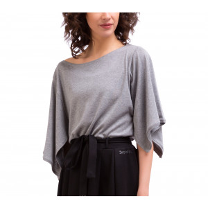 Kimono-T-Shirt aus Rippstrick