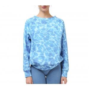 Gedrucktes Wasser Sweatshirt