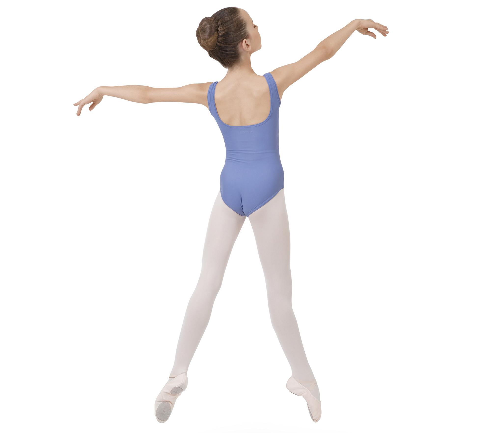 Mädchen Gerafftes Tanztrikot mit breiten Trägern
