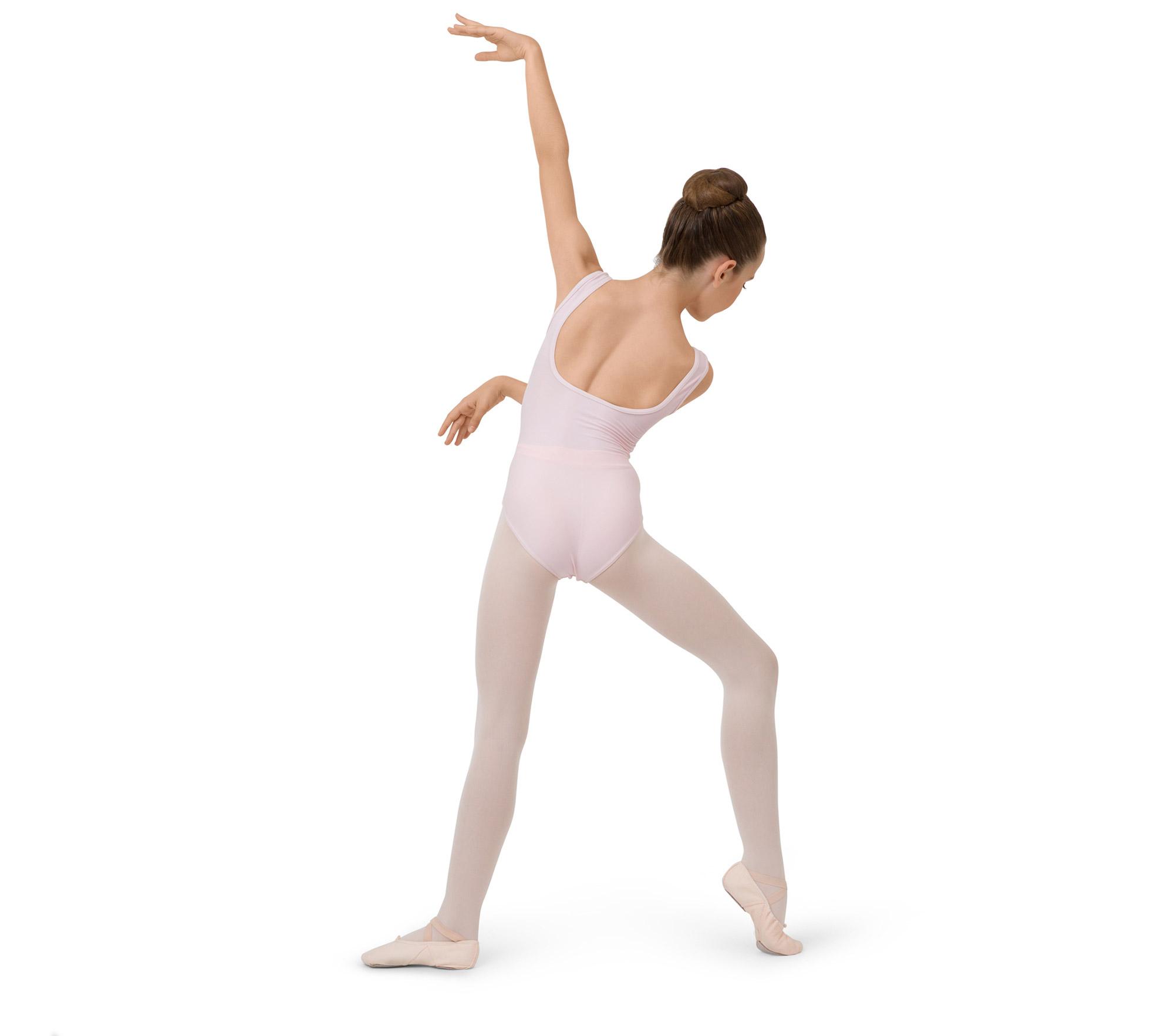 Gerafftes Tanztrikot mit breiten Trägern