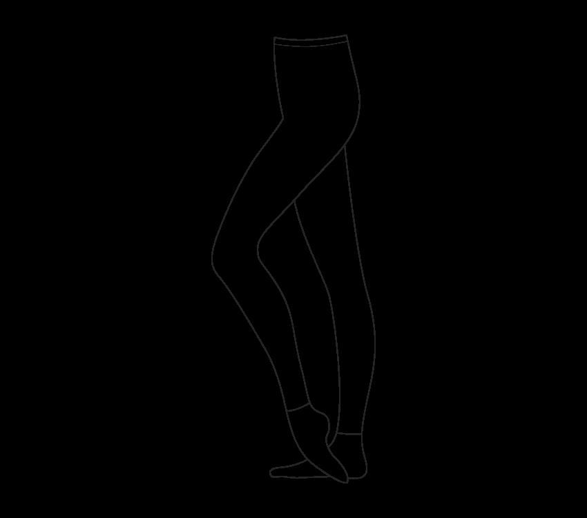 Collant senza piede