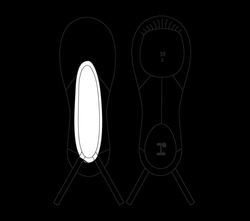 Mezza punta professionale a suola smezzata (opzione grande)