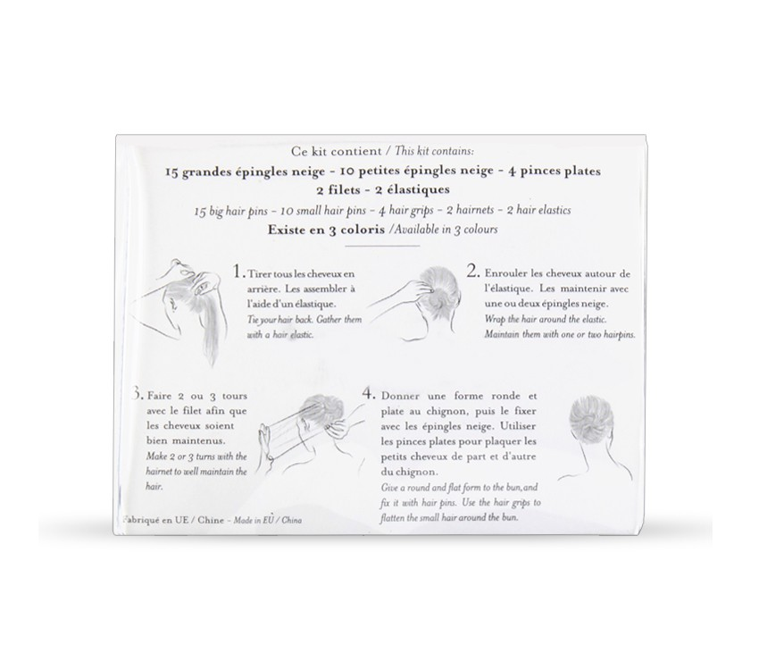 Kit capelli biondi per chignon danza