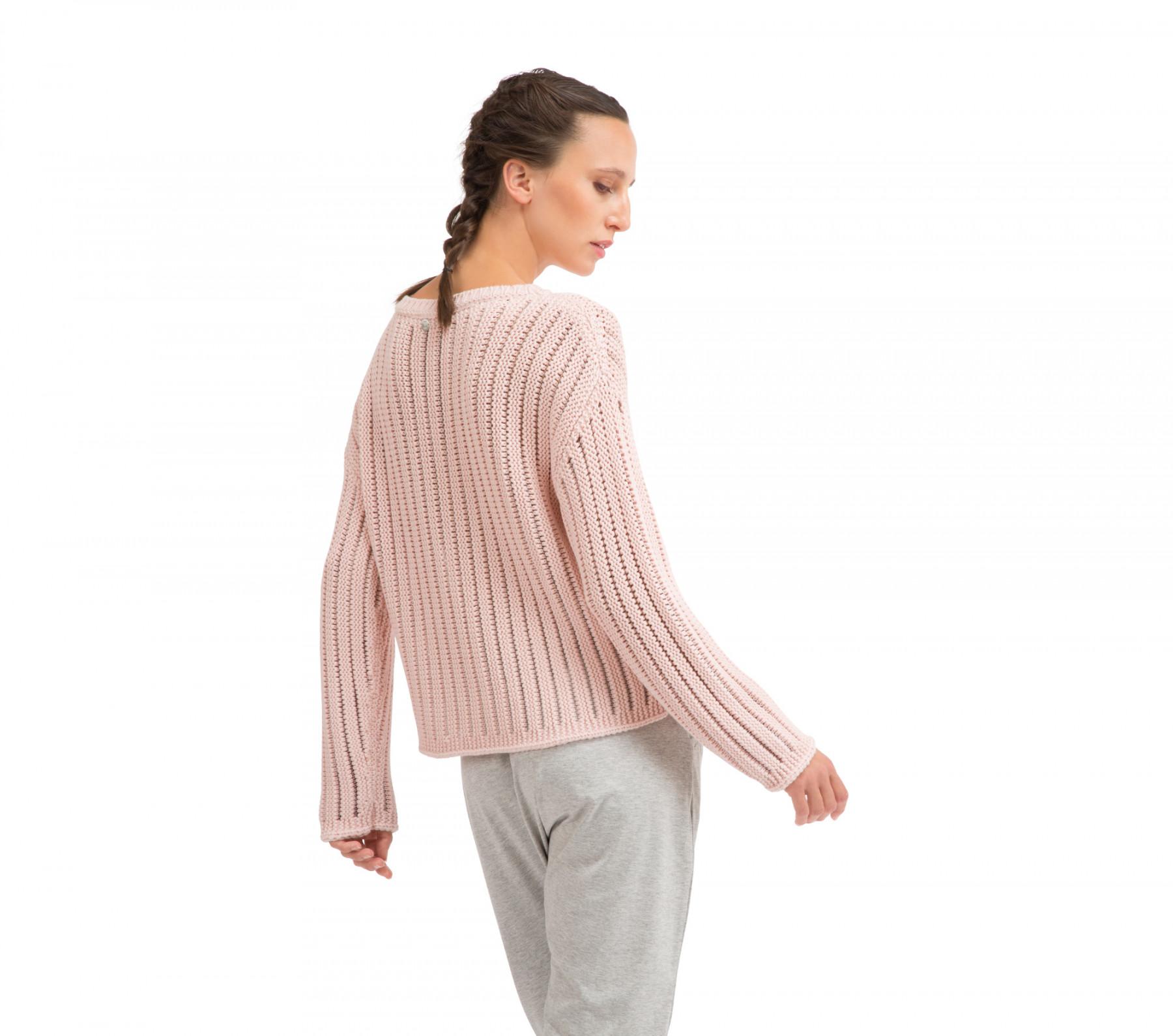 Pull dritto in maglia 3D traforata