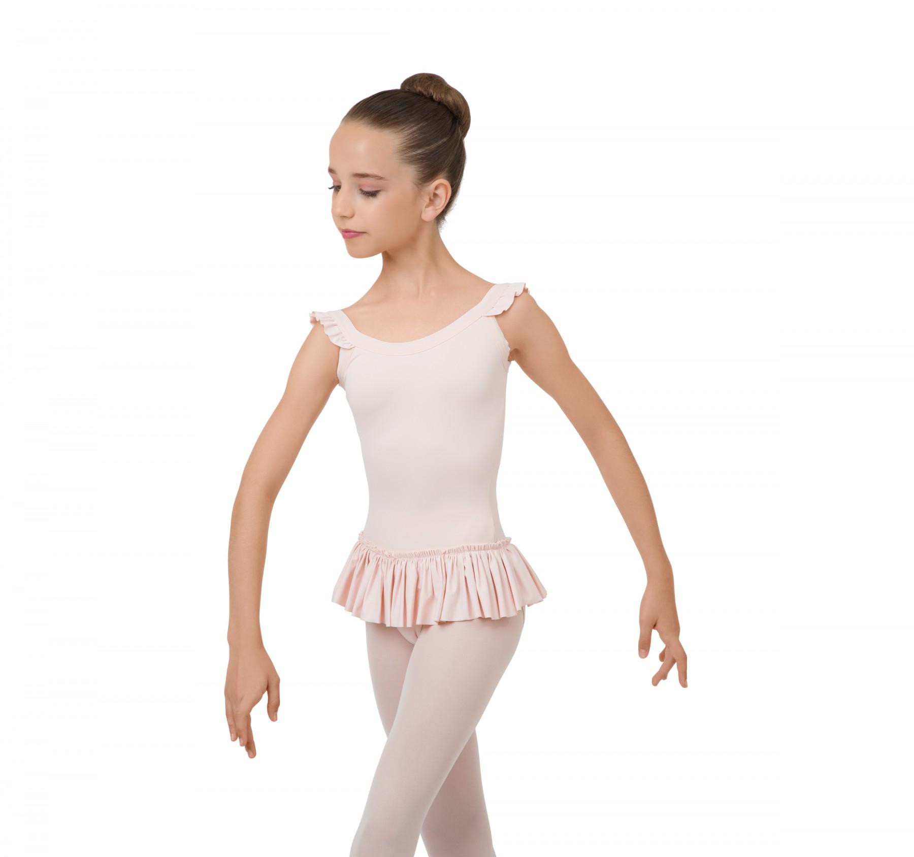 Body con gonnellino con spalline sottili elastiche ragazza