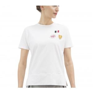 T-shirt a maniche corte in cotone con patch