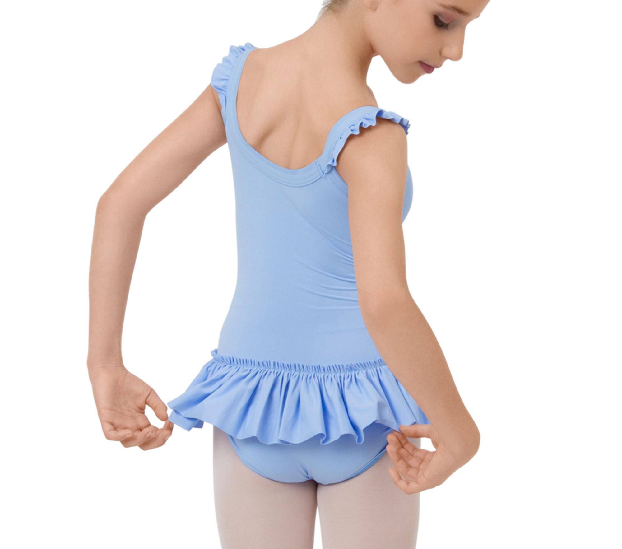 Body con gonnellino spalline sottili elastiche