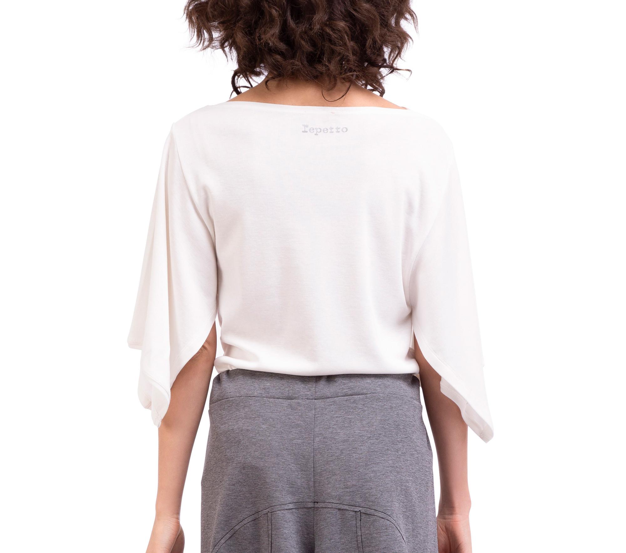 T-shirt kimono in maglia a costine