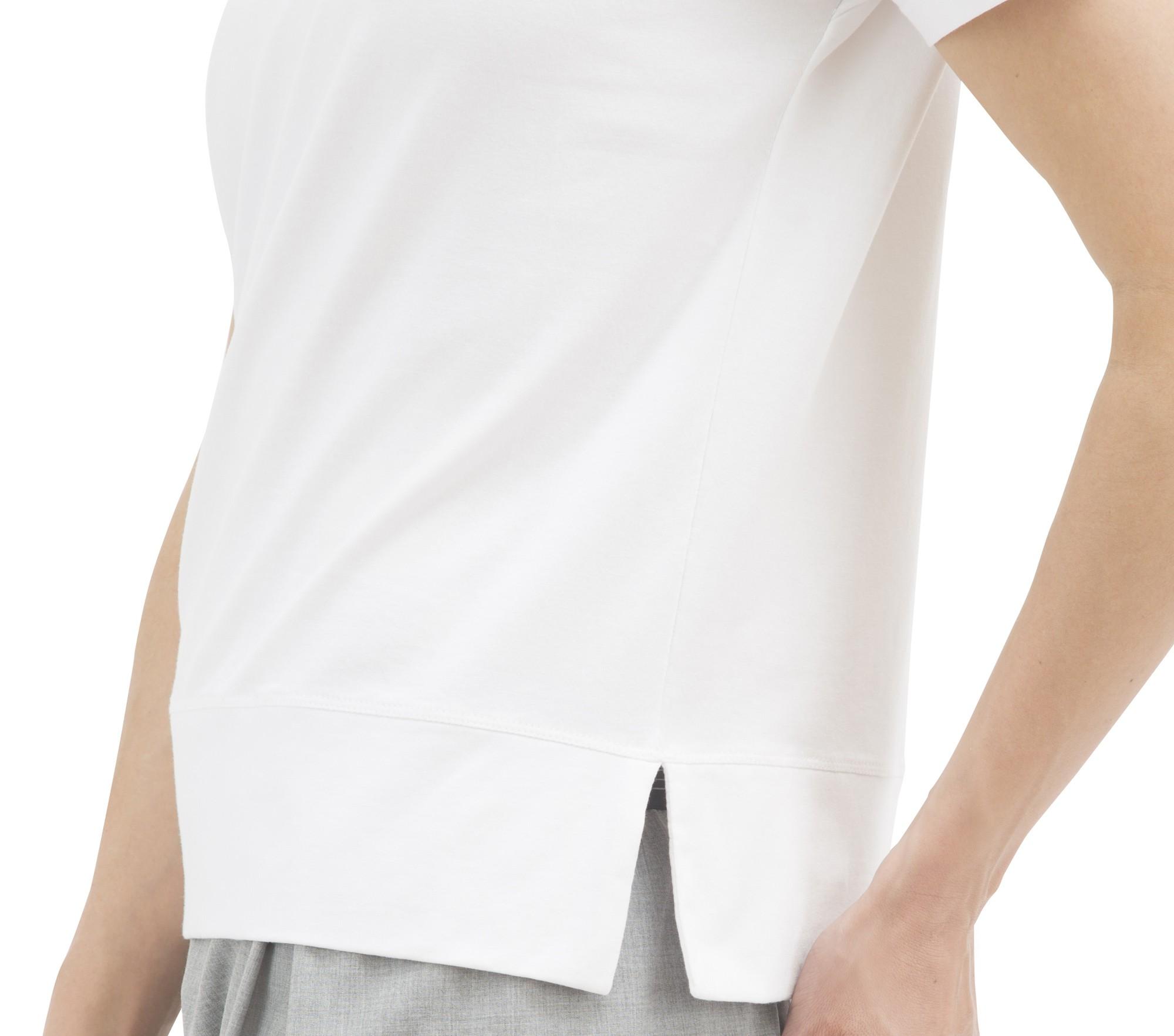 T-shirt a maniche corte in cotone con patch - Bambino
