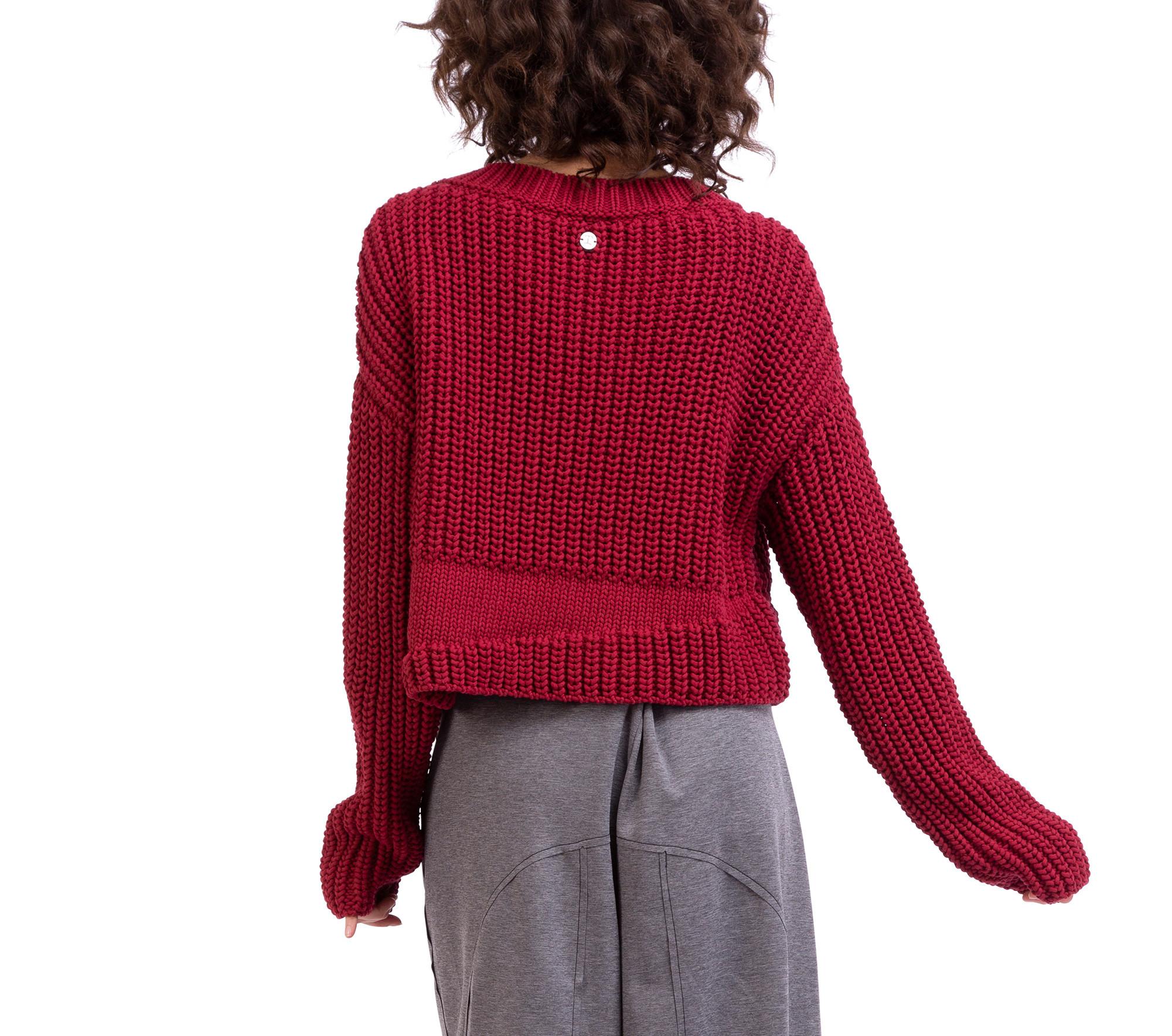 Maglione a maniche lunghe in maglia tricot 3D