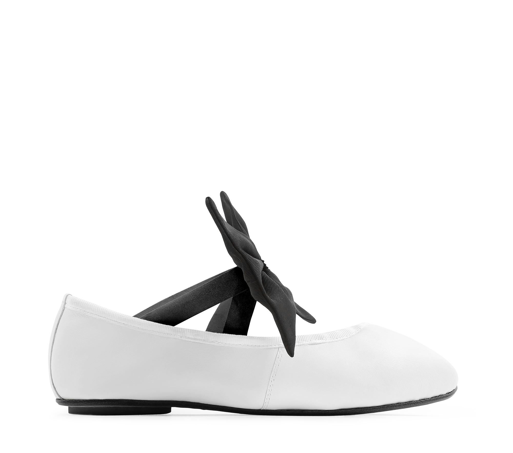 White Sophia Ballerinas